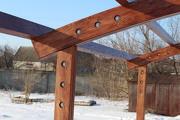 Изготовление навесов из дерева