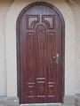 Входные бронированные двери с круглым верхом