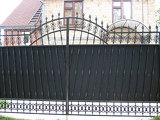 Распашные ворота с полимерной ковкой