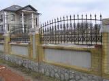 Забор с элементами ковки в Днепропетровске