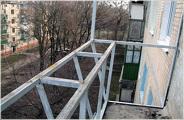Металлический каркас балконного ограждения