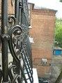 Перила на балкон с полимерной ковкой