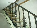 Перила на лестницу с полимерной ковкой