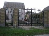 Ворота и калитка с полимерной ковкой