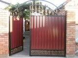 Ворота с полимерной ковкой