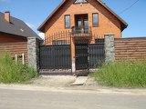 Ворота с полимерной ковкой в Днепропетровске