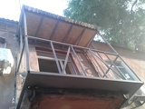Металлоконструкция балкона с выносом в Днепропетровске