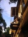 Металлоконструкция балкона с выносом по полу