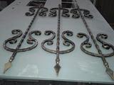 Элементы ковки для дверной решётки
